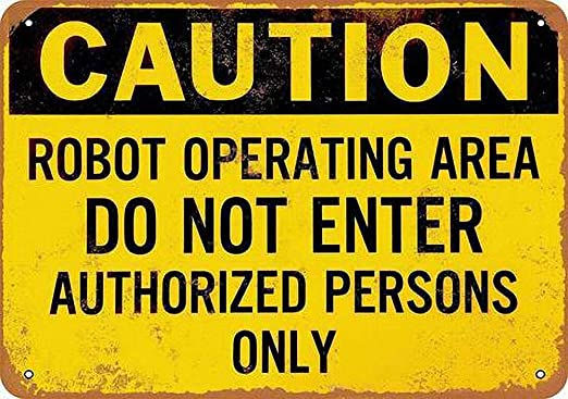 HiSign Caution Robot Operating Carteles de Chapa de hojalata ...