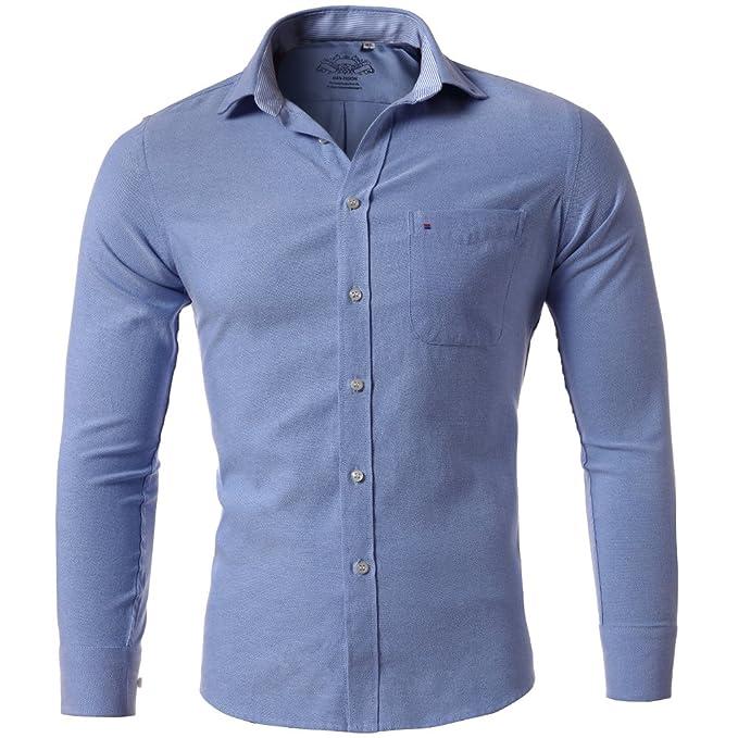 Amazon.com: Para hombre camisas antiarrugas Oxford textil ...