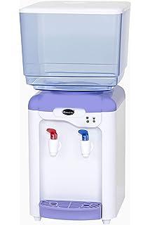 LLAMN Pequeño Blanco Dispensador de Agua encimera, Carga Superior ...