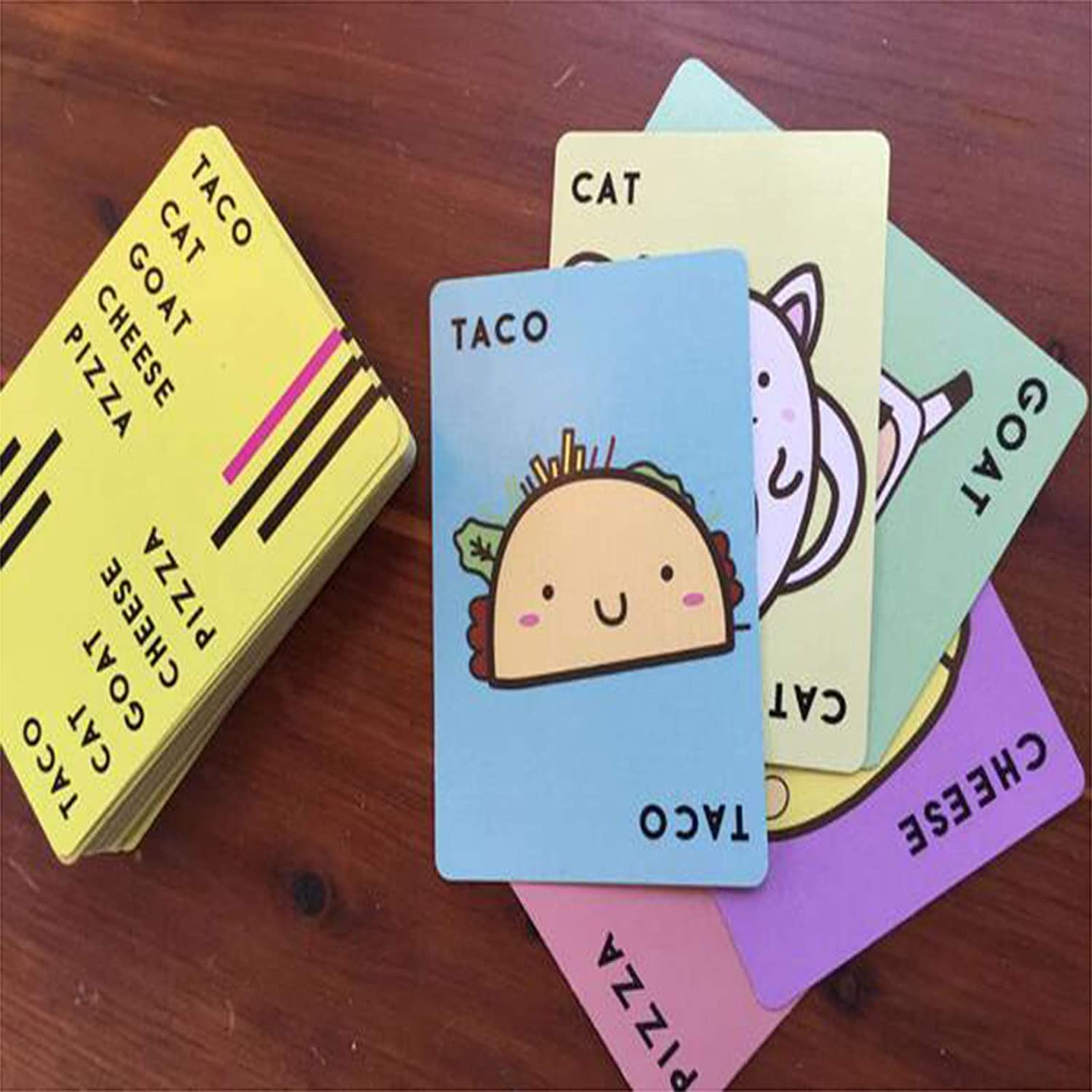 Family Games-Friendly Party Games Teens /& Kids,and Competitive Fun for Game Nights! Taco Cat Goat Cheese Pizza Card Games for Adults