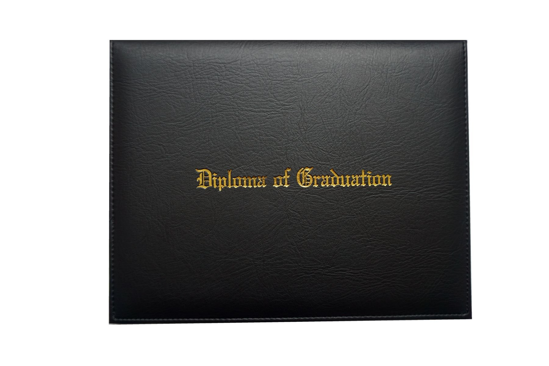Certificate Cover Imprinted ''Diploma Of Graduation'' Faux-leather Diploma Holder 8.5'' x 11'' Grad Days(Black) by Grad Days