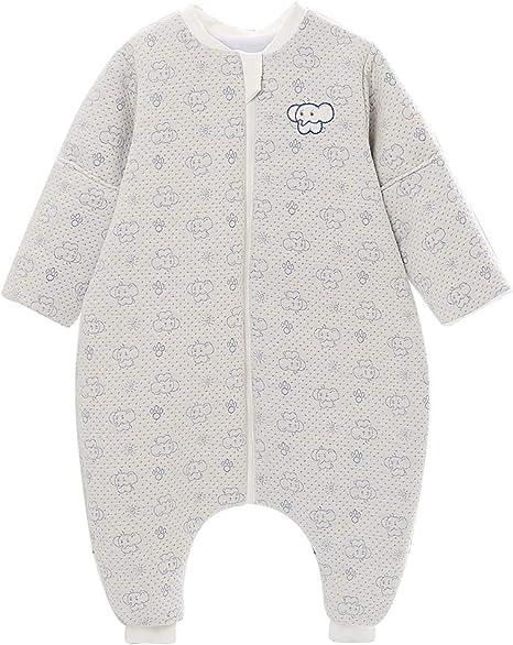 Saco de dormir para bebé para todo el año, algodón, para niña, con forro interior, para recién nacidos. - Elefante gris Elefante gris. Talla:12-24monate: Amazon.es: Hogar