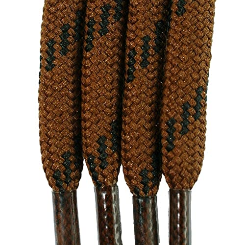 fd6453b94cf36 Amazon.com: Laces for boots and sneakers Brown with Black Flecks 3 ...