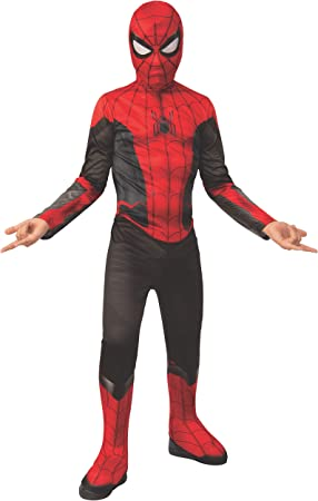 Rubies Spiderman Disfraz, Color Negro/Rojo, Large-8-10 Years ...