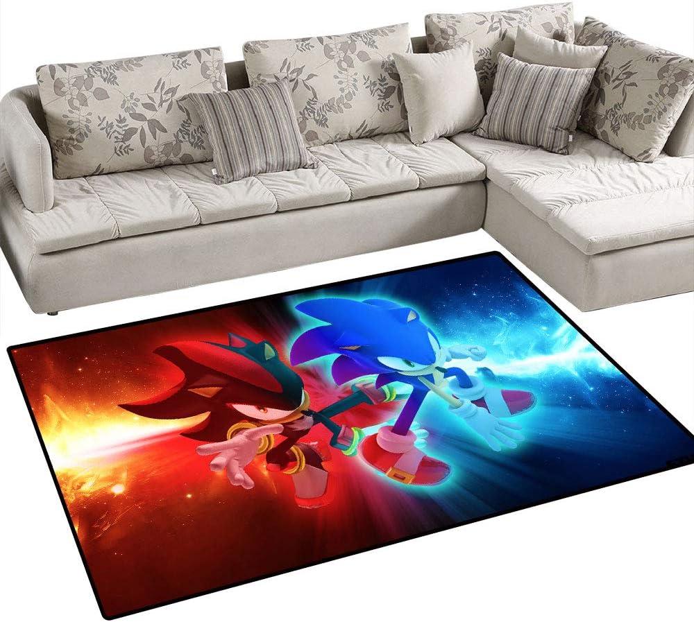 Tapis de salle de jeux pour enfants Pour chambre /à coucher Grand tapis de yoga Coobal Sonic le h/érisson pour la d/écoration de la maison 90 x 150 cm Tapis de yoga