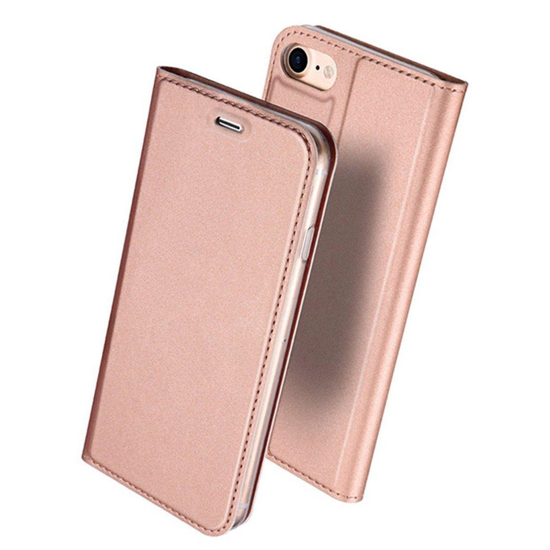 f26b76853b iPhone8 ケース 手帳型 高級PUレザー 軽量 耐摩擦 保護ケース ...