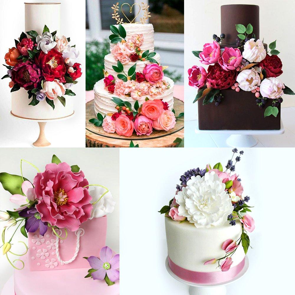 Gum Paste Flowers And Leaves Fondant Tools Kit 8set Metal Flower