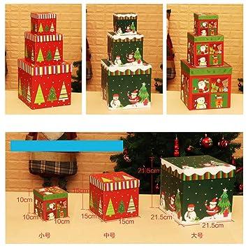 Caja de Regalo de cartón para hemorragias, Suministros de decoración de Navidad, diseño de Escena: Amazon.es: Hogar