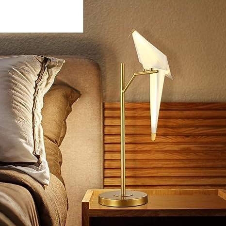 Nordic grúa ojo dormitorio cabecera lámpara de papel ...