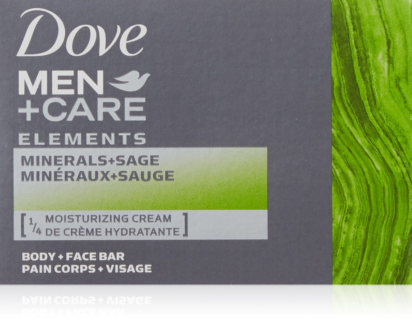 Dove Men+Care Elements Bar Minerals and Sage, 4 Ounce, 2 bars