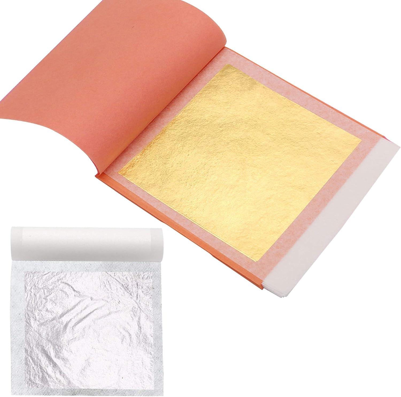 KINNO Edible Gold Leaf Sheets - 24 K Gold Leaf Paper 25 Sheets 3.15