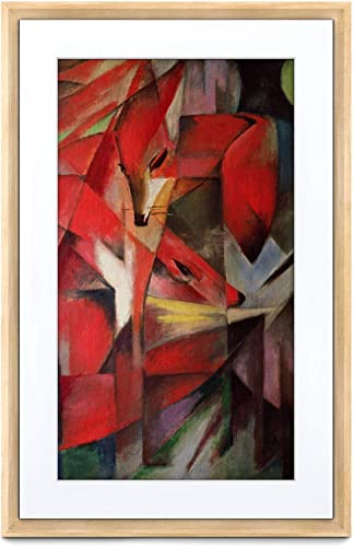 Meural Canvas II The Smart Art Frame with 21.5 in. HD Digital Canvas That Renders Images and Photography in Lifelike Detail 16X24 Light Wood Frame WiFi-Connected Powered by NETGEAR MC321LW