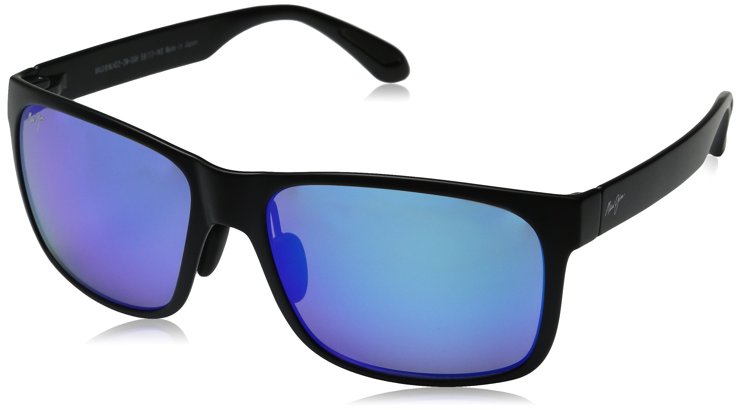 Maui Jim Red Sands Sunglasses - B432-2M Matte Black (Blue Hawaii Lens) - 59mm