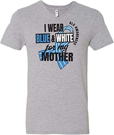 inktastic I Wear Blue and White for My Mommy ALS Awareness Baby T-Shirt