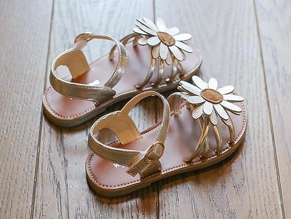 Familizo_Baby Shoes Sandalias de vestir para niña negro plata 24: Amazon.es: Jardín
