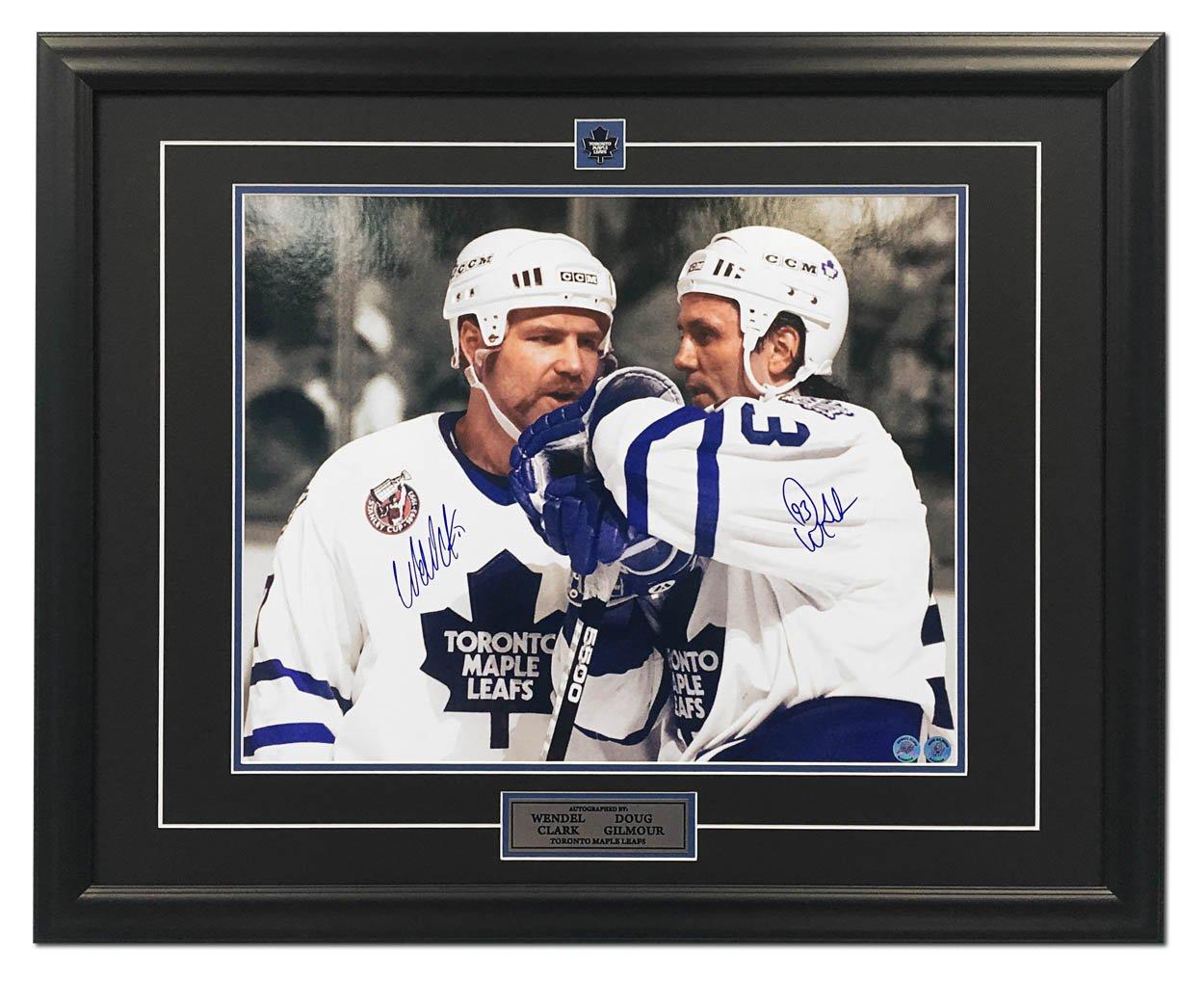 Doug Gilmour   Wendel Clark Toronto Maple Leaf Dual Signed Spotlight 25x31  Frame  Amazon.ca  Sports   Outdoors 2b549cb63