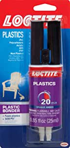 Loctite Epoxy Plastic Bonder 0.85-Fluid Ounce Syringe (1363118 ),Amber