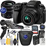Panasonic Lumix DMC-G7 Mirrorless Camera with 14-42mm Lens (Black) + 32GB Memory + Basic Photo Accessory Bundle
