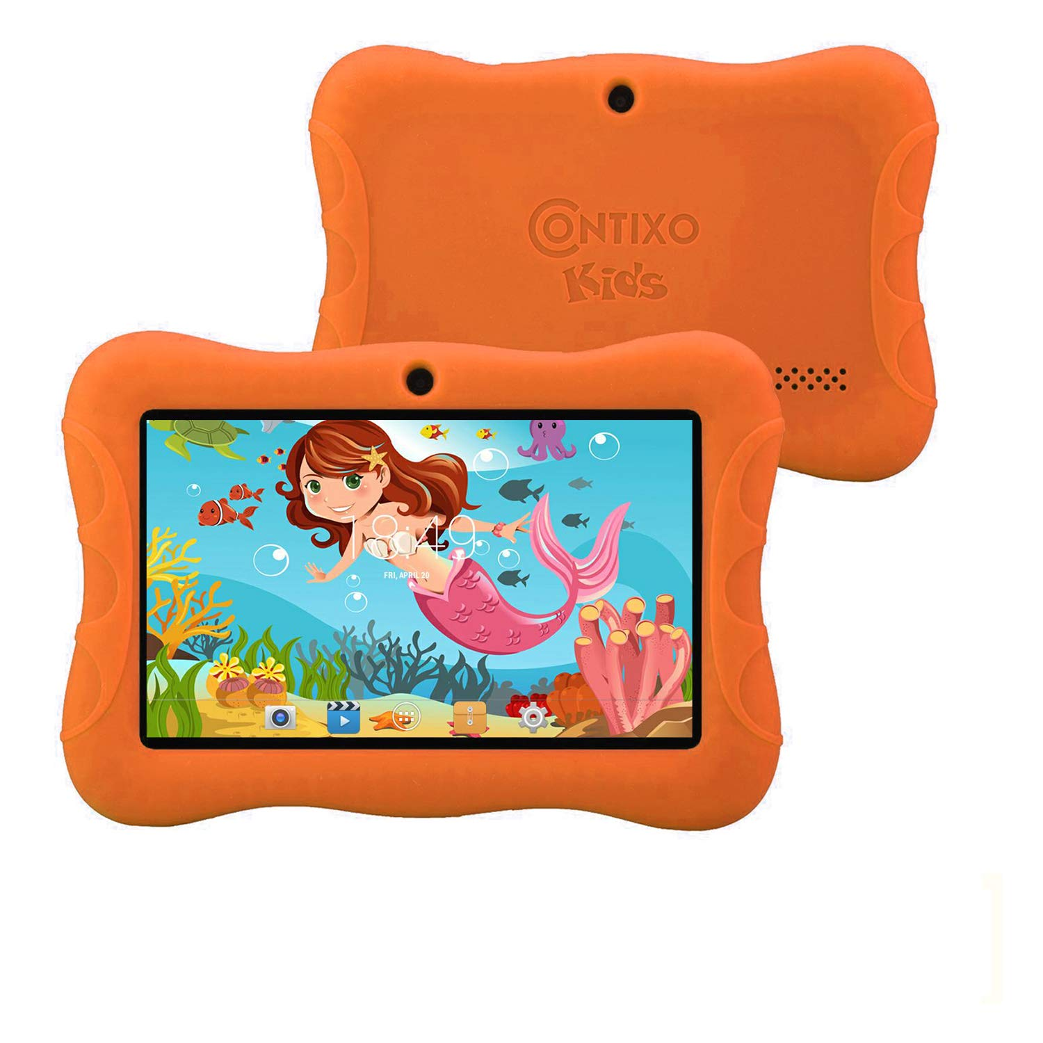 - Contixo 7'' inch Android 6.0 Kids Tablet | Parental Control with Preloaded Learning Educational Apps & Games + Kids Proof Case-2019 Edition K3 (Orange)
