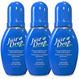 JUST A DROP - Pre-Poop Toilet Odor Eliminator – Truly Incognito Light Scent (0.2 fl. oz. Travel Size – 3 Pack)