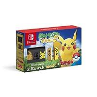 任天堂Nintendo Switch Let's Go Pikachu 口袋精灵皮卡丘限量版Switch,预装Let's Go Pikachu + Pokeball Plus 精灵球