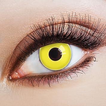 Aricona Farblinsen Farbige Kontaktlinse Yellow Neon Nights