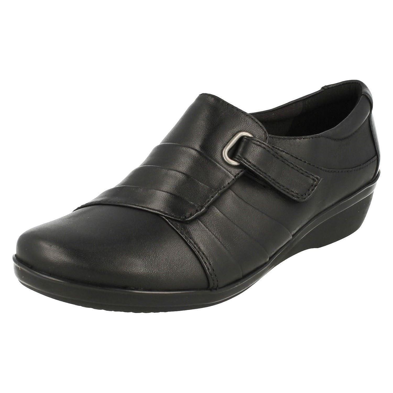 CLARKS Clarks Womens Shoe Everlay Luna Black Leather 41 EU