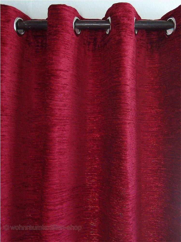 SeGaTeX home home home fashion Thermo Chenille Ösenschal Rot mit 8 Chrom-Ösen Thermo-Vorhang Deko-Schal 225 x 130 cm B01NBSKY5I Vorhnge bcef2a