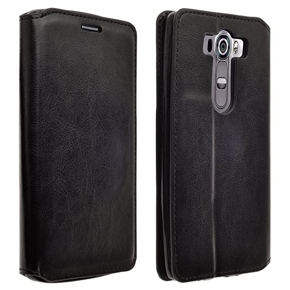 size 40 fa525 be6c1 LG G VISTA 2 Case - Magnetic Leather Folio Flip Book Wallet Pouch Case  Cover With Fold Up Kickstand For LG G VISTA 2 - Black Slim Flip Case