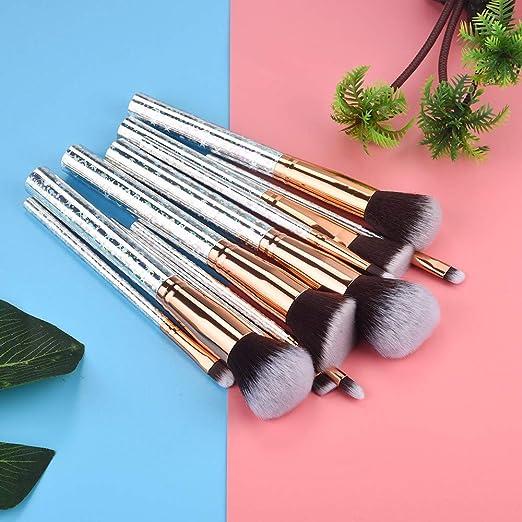 MSOOO - Juego de 10 brochas de maquillaje para sombra de ojos, brochas de maquillaje: Amazon.es: Juguetes y juegos