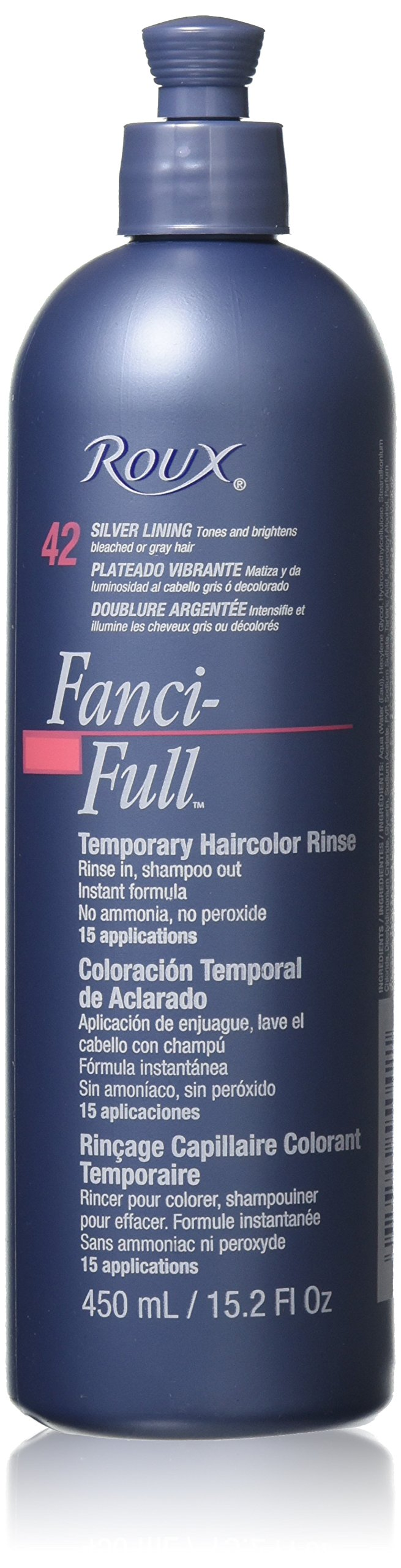 Amazon roux fanci full temporary color rinse white minx roux fanci full rinse 42 silver lining 152 fluid ounce geenschuldenfo Choice Image