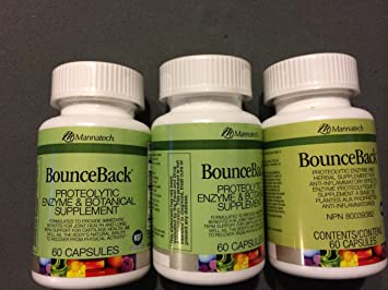 Amazon.com: 3 botellas mannatech BounceBack proteolytic ...