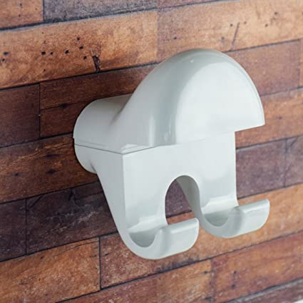 Saniplast Nube Perchero Doble de Pared, ABS, Blanco, 9 x 8 x ...