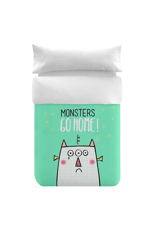 Funda Nordica Monster.Bipolart Funda Nordica Cama Algodon Multicolor 220x150x10 Cm Two