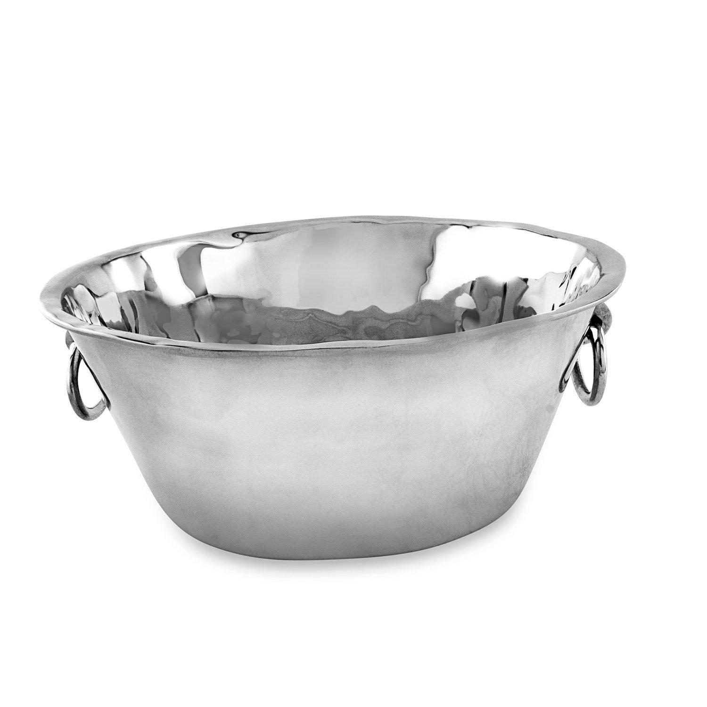 Beatriz Ball Large Soho Ice Bucket with Handles, Metallic