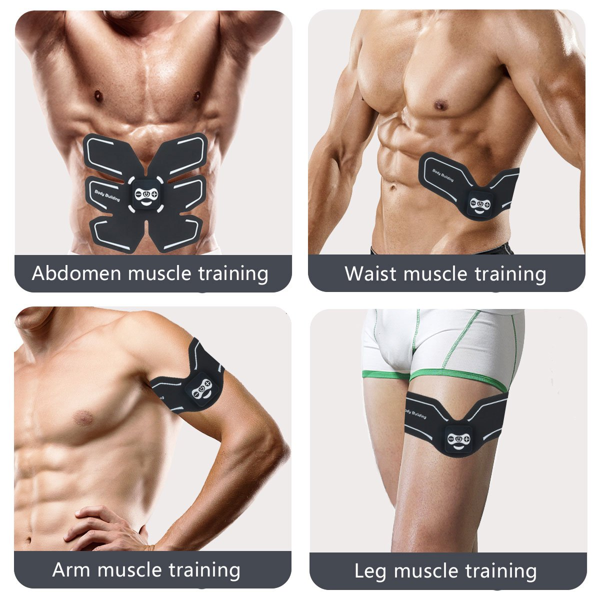 JIRUN Abs Stimulator Muscle Trainer Ultimate Abs Stimulator Ab Stimulator for Men Women Abdominal Work Out Ads Power Fitness Abs Muscle Training Gear Workout Equipment Portable Stimulator Abs Belt