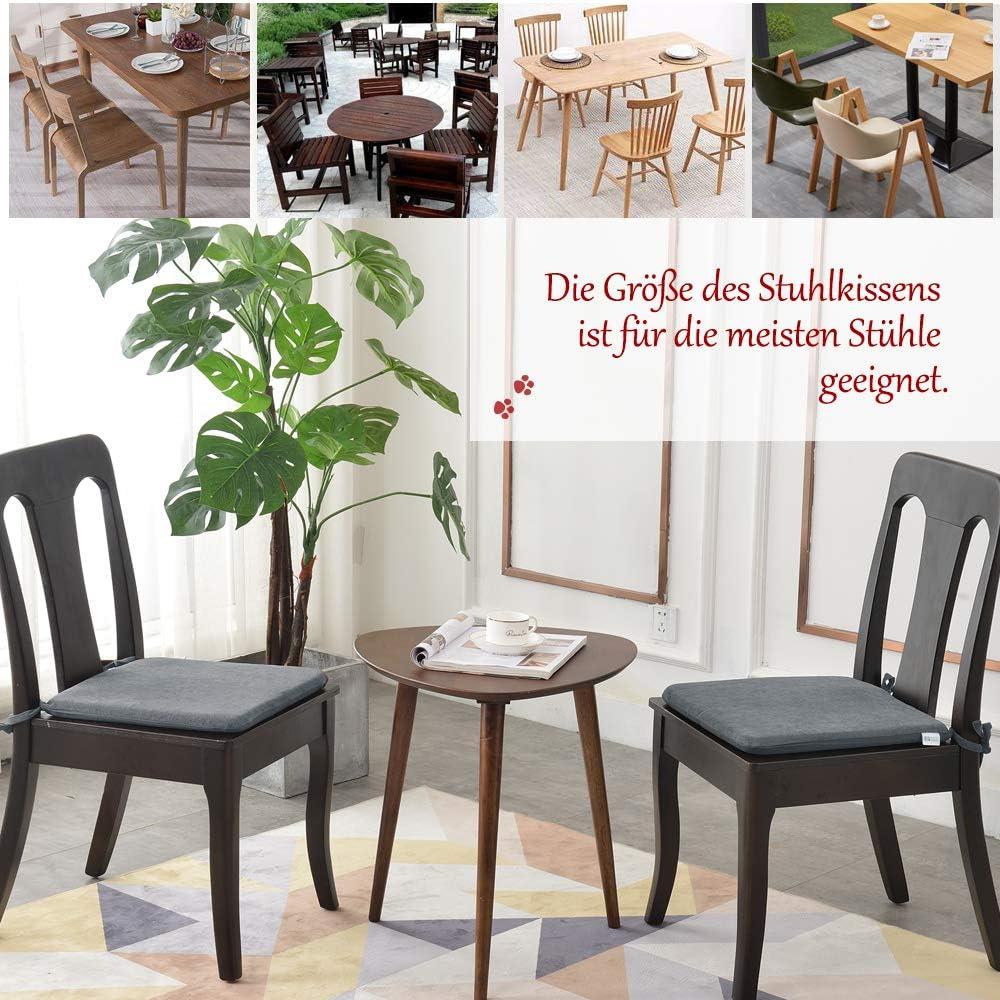 colecci/ón 42 cm color beige 1 coj/ín de tela exquisita coj/ín de asiento para sillas de casa y jard/ín Juego de 2 cojines de espuma viscoel/ástica para silla Balcony /& Falcon 1 coj/ín para silla