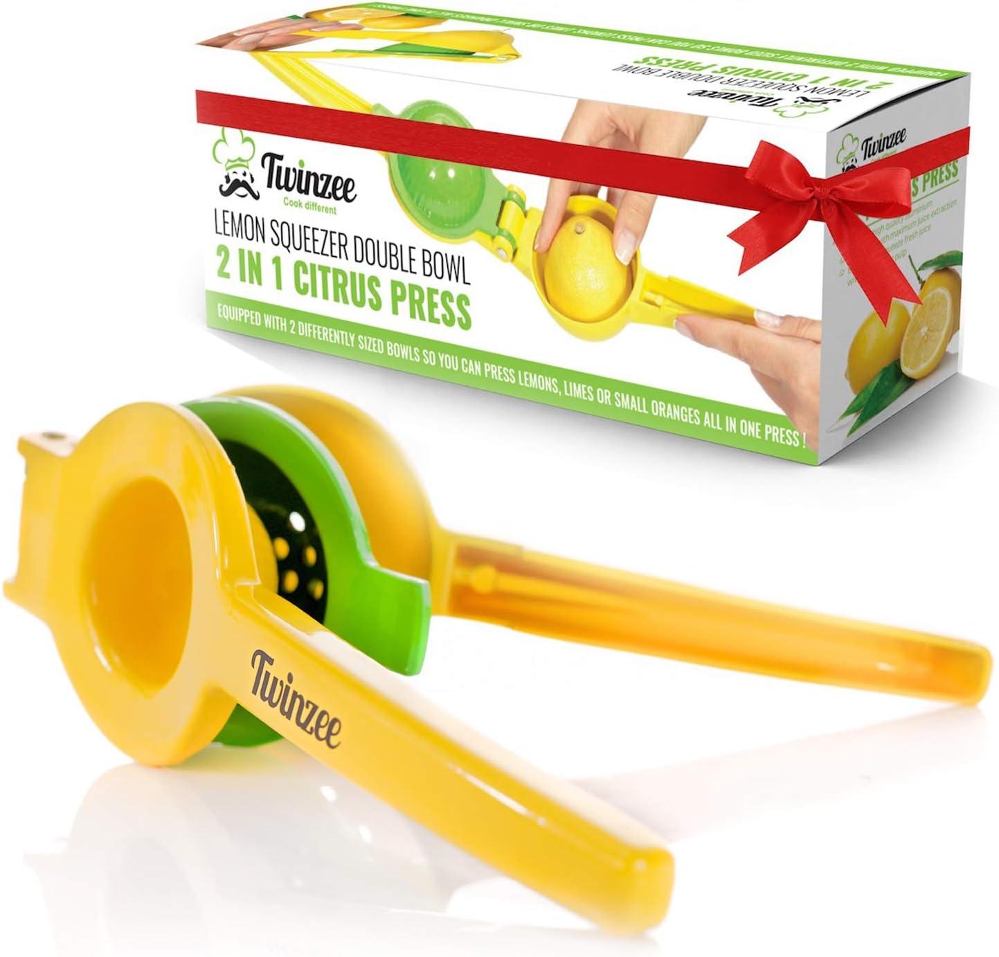 Compra Exprimidor manual de limón Twinzee - Hecho de aluminio ...