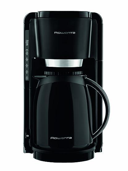 Rowenta Adagio CT3808 Cafetera De Goteo Con Jarra Térmica, 850 W, 1.25 Litros, Acero Inoxidable, Negro