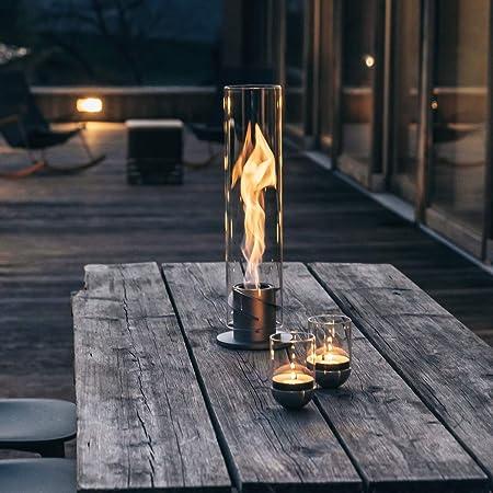 höfats - SPIN - Chimenea de Mesa bioetanol - biochimenea de Mesa, lámpara de Fuego y antorcha para el jardín - de Acero Inoxidable: Amazon.es: Jardín