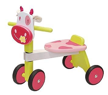 I M TOY Correpasillos Andador de madera La vaca rosada ...