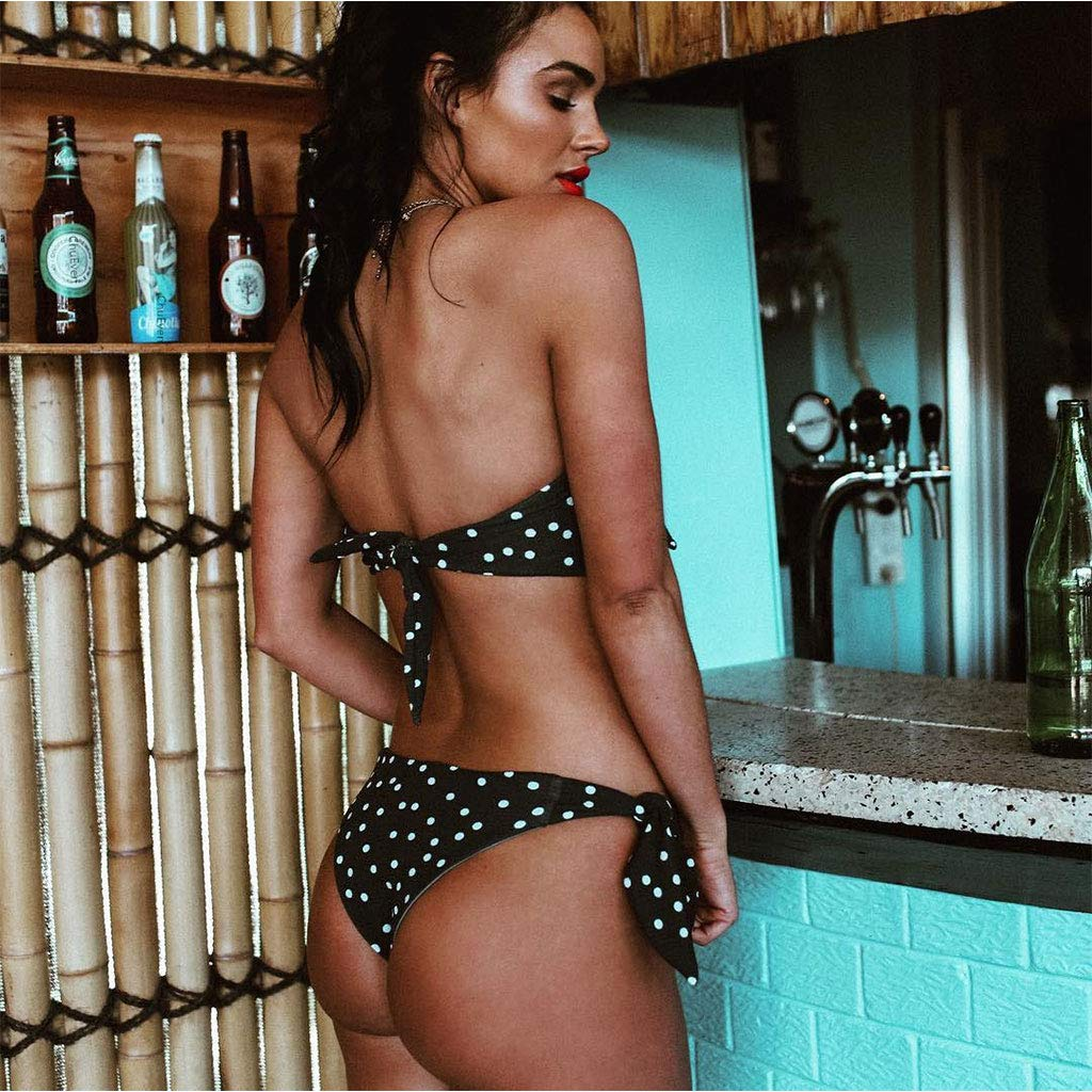 LYworld Femme Maillot De Pain 2 Pi/èces sans Bretelles Bandeau//Halterneck Push Up Bikini Rembourr/é Maillot de Bain Bikini Set