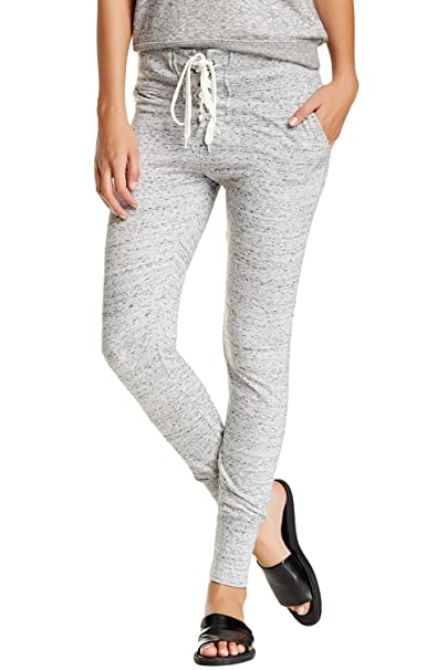 e3c8a77021 Balanced Tech Women's French Terry Fitted Jogger Sweatpants - Black/Grey -  Large at Amazon Women's Clothing store: