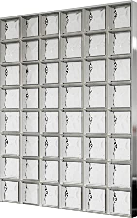 Bloques de vidrio mamparas de ducha JUEGO COMPLETO 117x156 cm ...