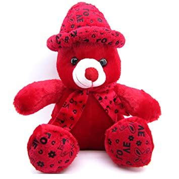 Buy Teddy Bear For Girls Red Huggable With Love Cap Cute Look Girlfriend Birthday Gift Boy Girl 38 Cm Online At Low Prices