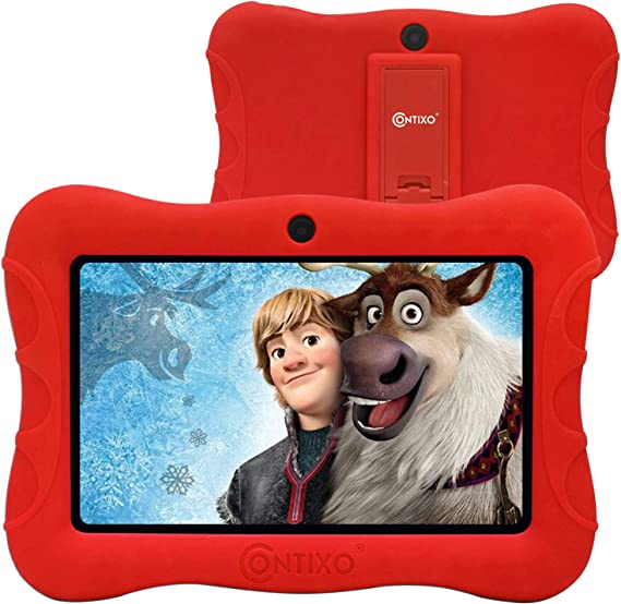 Contixo V9-3 7 inch Kids Tablet - WiFi Android Tablet for Kids - Learning Educational Apps Pre-Loaded - Kid Friendly Tablets with Parental Control - Great Toddler Tablet for Preschool Toy (Red)