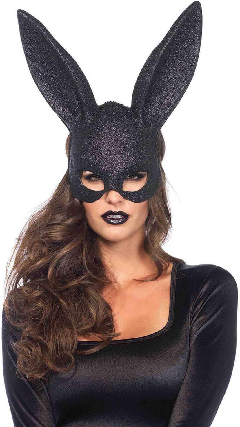 Leg Avenue Masque Lapin /à Paillettes Noir Taille Unique