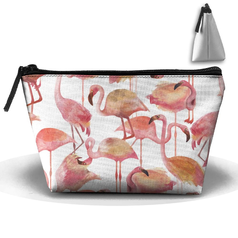 96aeb4a70272 Amazon.com: NT1UNW Trapezoid Cosmetic Bags Brush Pouch Flamingo Pink ...