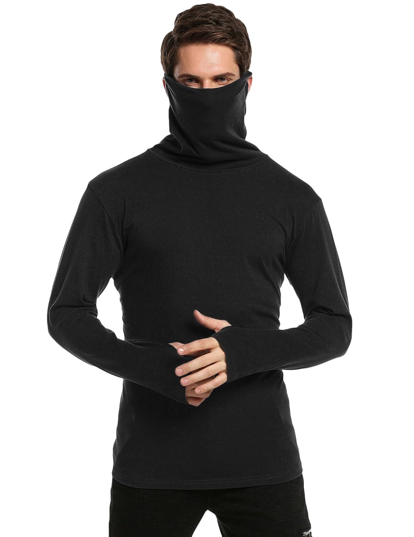 COOFANDY Mens Slim Fit Underwear Thermal Turtleneck Pullover Thermal Sweaters