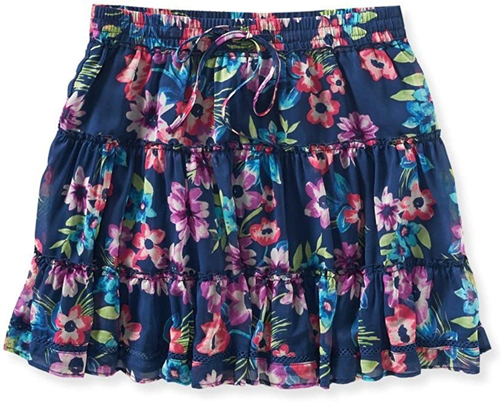 Aeropostale Womens Stretch Floral Mini Skirt